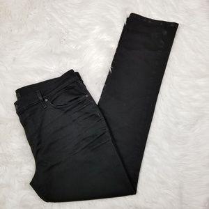 Joe's Jeans Black Slim Fit Straight Leg Jeans 38